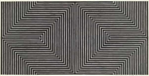 Frank Stella líneas blancas y negras