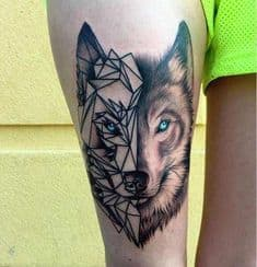 Lobo mitad geométrico