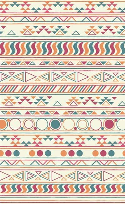 quetzalcoatl dibujo Triángulos y círculos de colores tierra