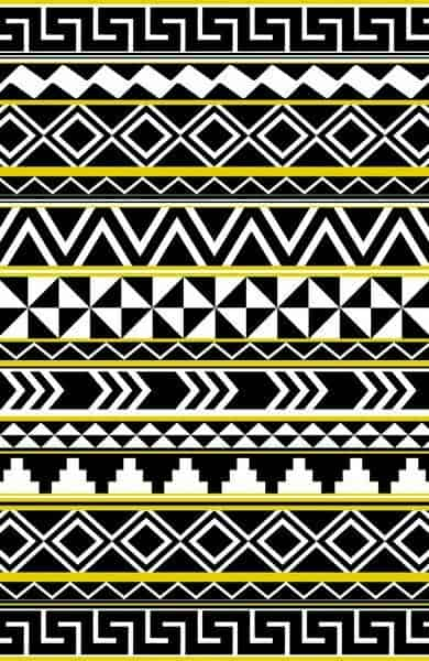 calendario maya vector Efecto damero blanco y negro y greca de caracol