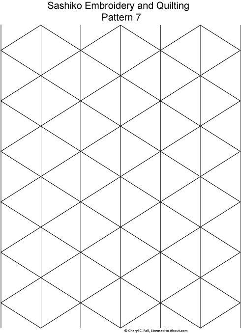 patron sashiko figuras geometricas