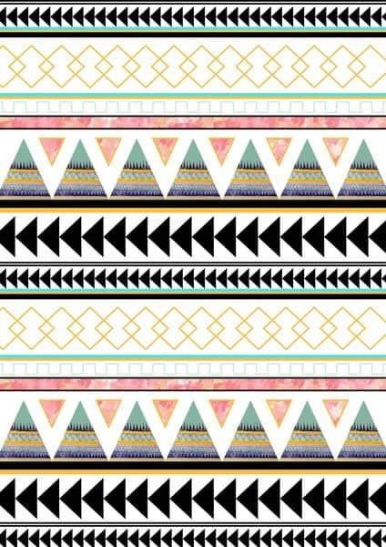 diseños de grecas png vector con pirámides y cuadrados