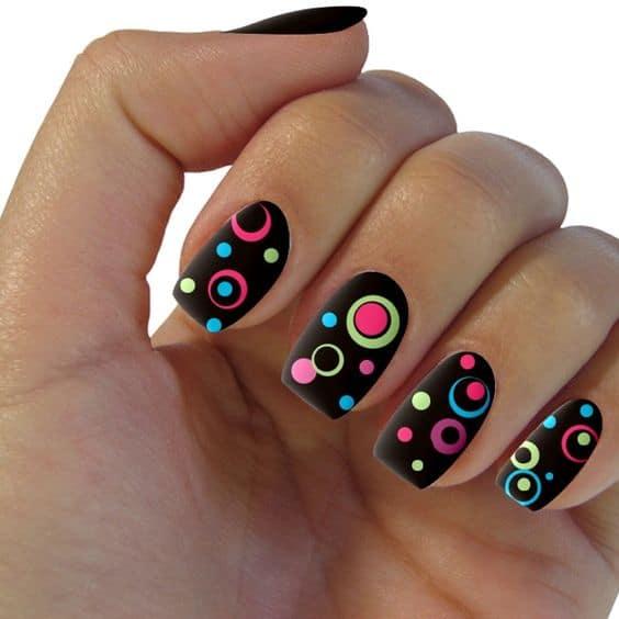 Circulos concentricos de colores