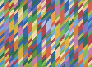 Bridget riley malla de rombos simétricos