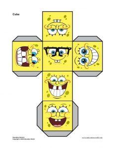 Cubo con forma de Bob Esponja