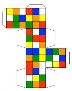 figra geometrica cubo para armar rubik
