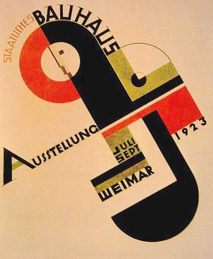 Cartel de la Escuela Bauhaus circa 1923