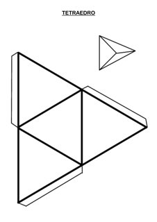 Tetraedro para armar