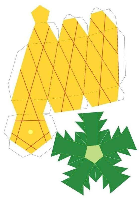 piramide para armar piña fruta