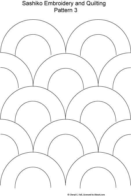 patron sashiko figuras geometricas circulos