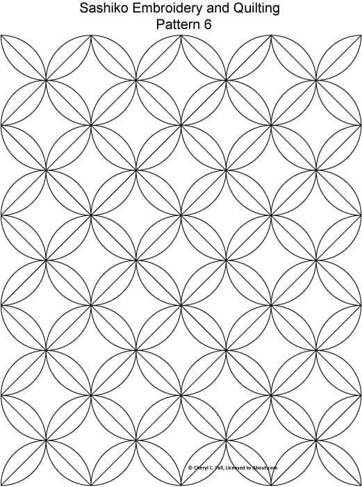 patron sashiko formas geometricas