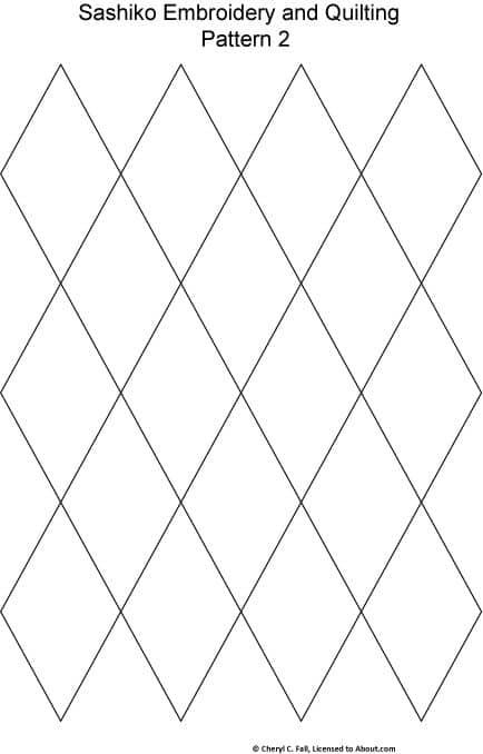 patron sashiko cuerpos geometricas