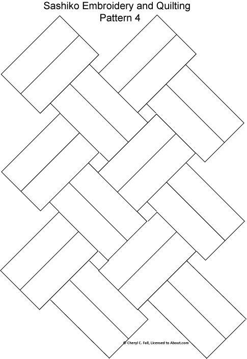 patron sashiko geometria
