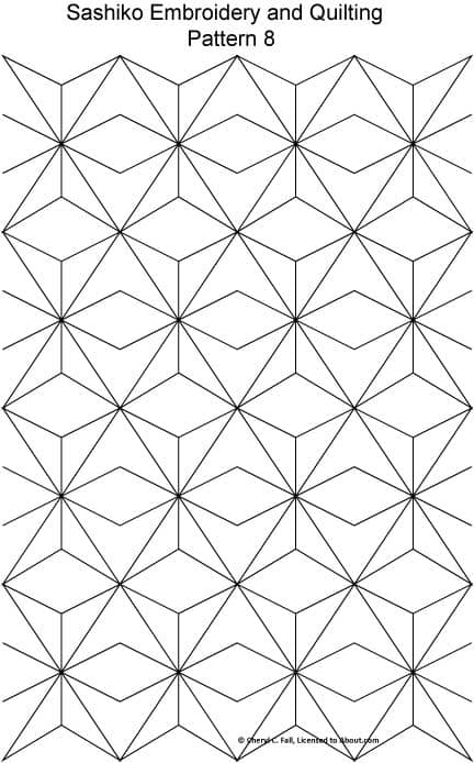 patron sashiko locura geometrica