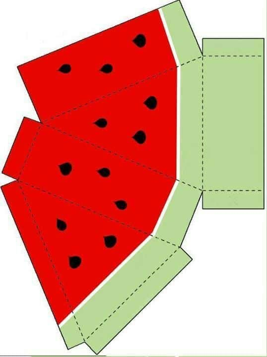 figura para armar piramide sandia fruta