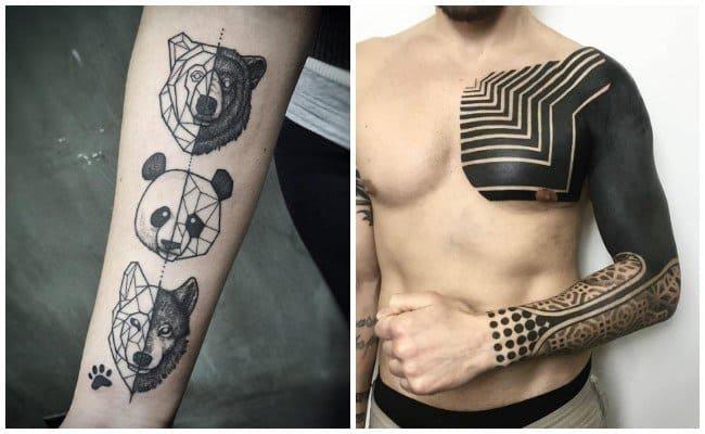 tatuajes en tobillos y hombros