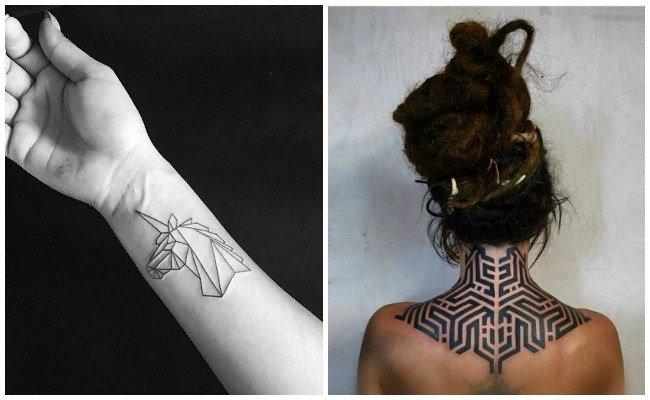 figuras geometricas tatuajes