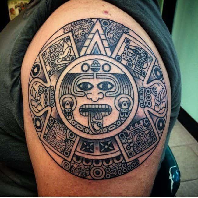 tipos de grecas y tatuajes mayas
