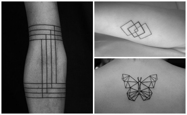 tatuajes lineales brazo