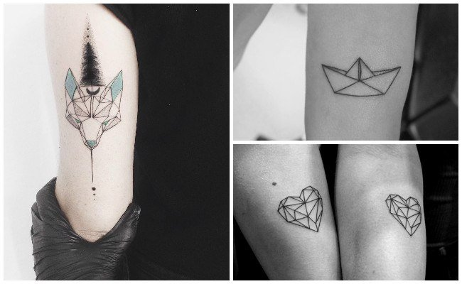 tatuajes geometricos brazo hombre
