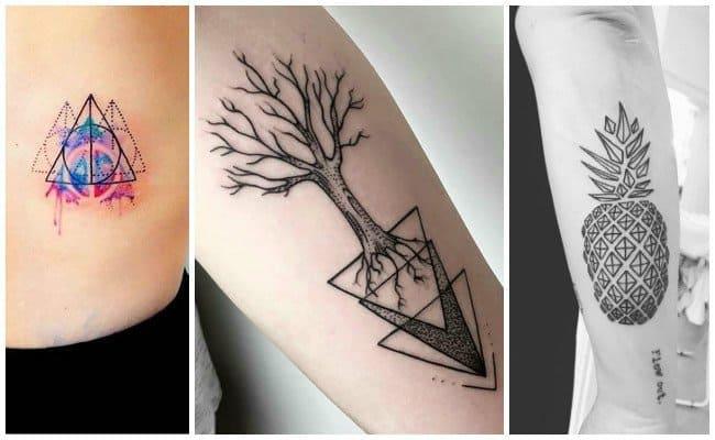 tatuaje leon mitad geometrico