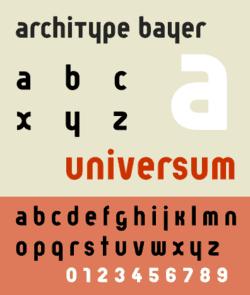 Tipografía Bayer
