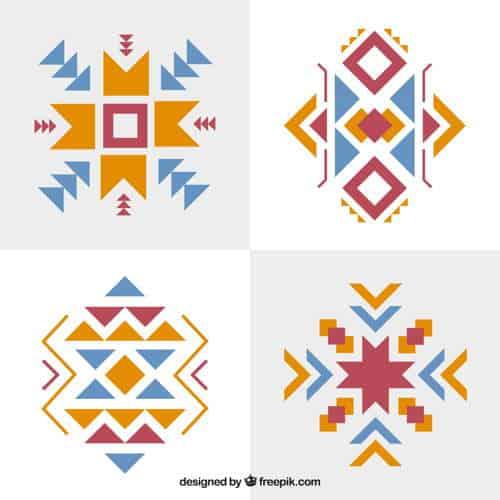 grecas mayas vector